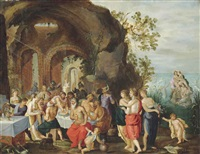 the feast of the gods by frans francken ii and adriaen van stalbemt