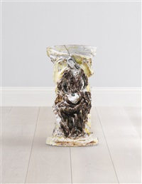 gamba di tavolino by lucio fontana