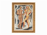 two figures by alexander archipenko