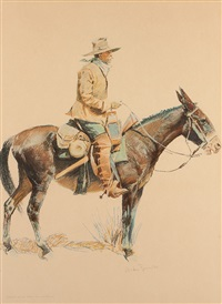 a bunch of buckskins: an army tracker by frederic remington