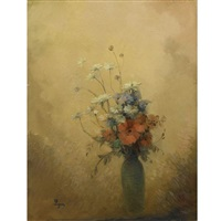 flowers in a vase by leon dabo