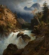landskap med fossestryk by thomas fearnley