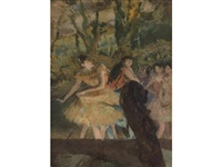 danseuses et contrebasse by edgar degas