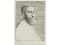 portrait of sir edward j. poynter by alphonse legros
