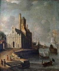 navires dans un port by jan abrahamsz beerstraten