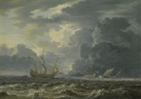 shipping in choppy seas by jan peeters the elder