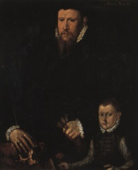 portrait of john polk of godington and his son by steven van der meulen