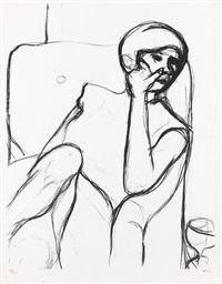 woman seated in an armchair by richard diebenkorn