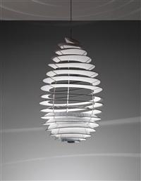 spiral ceiling light, designed for the university of aarhus by poul henningsen