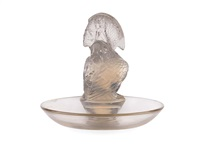 pélican opalescent glass ashtray by rené lalique