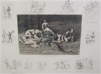 a collection of etchings by frank paton