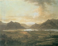 an extensive view of the lakes and mountains of killarney by jonathan fisher