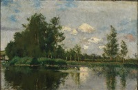 landscape at grez by kenyon c. cox