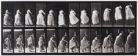 stepping on chair and reaching up, plate 457 from animal locomotion by eadweard muybridge