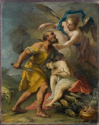 sacrifice d'issac by jacopo amigoni
