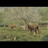 milking time (winston churchill farm?) by kenyon c. cox