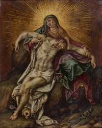 pietà by hendrick de clerck
