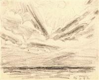 wolkenstudie by lyonel feininger