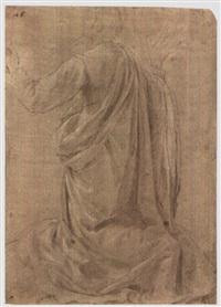 studio di figura inginocchiata by jacopo (da empoli) chimenti