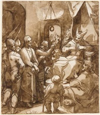christ before caiaphas by christoph gertner