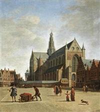 haarlem, looking south-east with saint bavo's church by gerrit adriaensz berckheyde