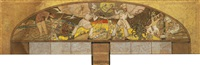 study for the grand central oyster bar mural by edward trumbull