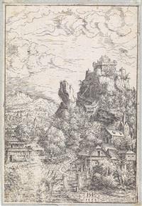 konvolut von sechs landschaften (6 works) by hans sebald lautensack