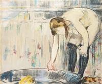 femme au tub by édouard manet
