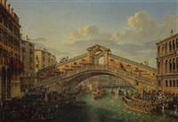 einzug kaiser franz i von österreich in venedig by robert roberti