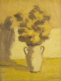 untitled - still life of flowers by william goodridge roberts