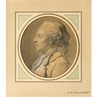 portrait d'homme de profil gauche by augustin de saint-aubin