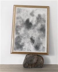 untitled (basketball drawing + stone) by david hammons