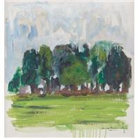 wooded landscape by jane freilicher