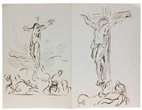 deux études pour une crucifixion by eugène delacroix