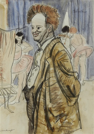 clown bluch by dame laura knight