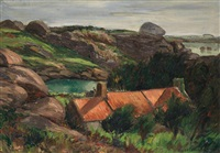 paysage de bretagne by georges hanna sabbagh