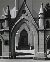 church, santa cruz (mission san xavier del bac) by ansel adams