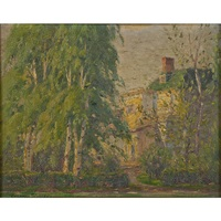 the old homestead at bensonhurst by gustave adolph wiegand
