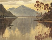 lake scene, county wicklow by mabel young