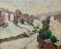paysage de la creuse sous la neige by armand guillaumin