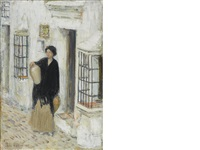 woman in a doorway by childe hassam