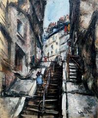 escaliers des abesses à montmartre, nov, 29 by takanori oguiss