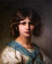 portrait de jeune fille by edouard cabane