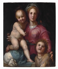 the madonna and child with the infant saint john the baptist by pontormo (jacopo carucci)