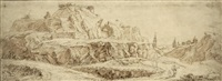paysage animé avec une forteresse by gabriel perelle