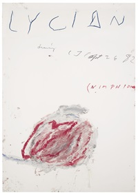 lycian drawing (nimphidia) by cy twombly