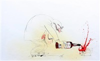 untitled (drawing for an oddbins advertising campaign) by ralph idris steadman