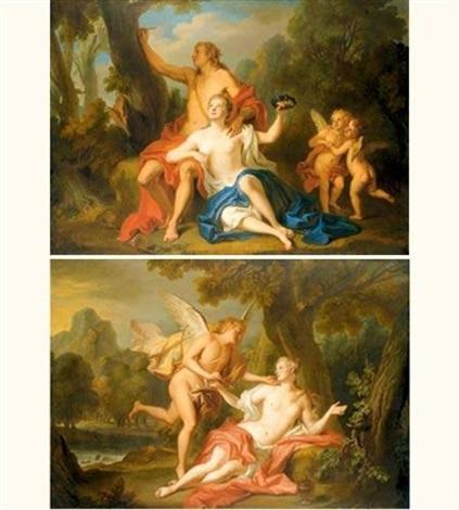 scènes de l'histoire d'angélique et médor (pair) by noël nicolas coypel