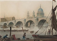 blackfriars bridge with st. paul's cathedral beyond by thomas malton the younger