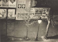 avenue du moine la nuit, paris by ilse bing